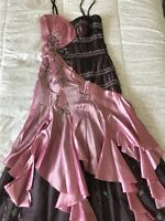 Fancy Evening Long /Prom /Wedding Dress Pink And Black Size 6