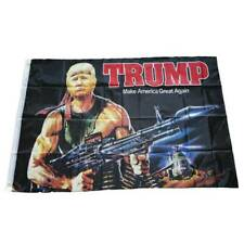 Donald Trump Rambo Bazooka Flag 3x5 Foot 3D Print Banner New Flags xkj