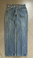 Vintage 90s Levis 501 Made In USA Distressed Jeans Denim Button Fly 31x32