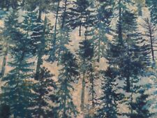 Mountain Wilderness Green Color Trees Northcott Cotton 39375-46