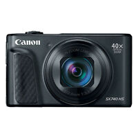 Canon PowerShot SX740 HS 20.3MP 4K Digital Camera 40x Optical Zoom Wi-Fi Black