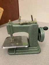 Vintage Hand Crank Child's Toy Sewing Machine - Betsy Ross - Green