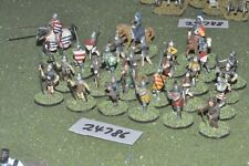 25mm medieval / english - battle group 27 figures - inf (24786)