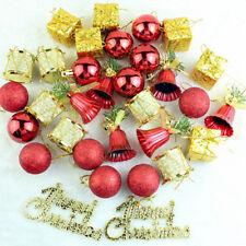 32pcs Christmas Balls Drums Bells Baubles Ornaments Xmas Tree Pendant Decoration
