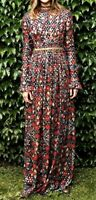 $1,500 Tory Burch Embellished Brocade Leanne Maxi Long Gown Dress IT 42 / US 6