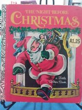 THE NIGHT BEFORE CHRISTMAS Little Golden Book 1977 New York  #450-9 VGC