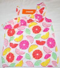 Gymboree Fruit Punch Pink Yellow CITRUS FRUIT Ruffle Tank Top 5 Kid Girls NWT