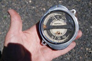 1935 Buick Series 40 Amperes and Oil Pressure gauge Set Good Original