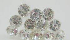 Bunch of 12 Clear Diamante Stems, Crafts, Wedding Bouquets, Wands