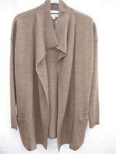 "NWT ""MAX STUDIO"" Milk Chocolate Merino Wool 3/4 Length Cardigan  - Size S"