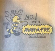 Man-A-Fre Vintage Iron-On Logo Graphic Transfer