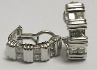 18ct Gold Diamond Earrings 18k White 1.80ct Princess Cuts