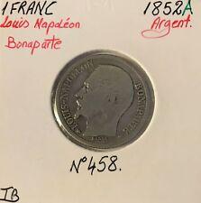 1 FRANC LOUIS-NAPOLEON BONAPARTE - 1852A - Monnaie en Argent - TB