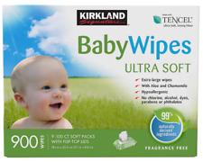 Kirkland Signature Hypoallergenic Extra Large Baby Wipes W Aloe 900-Count