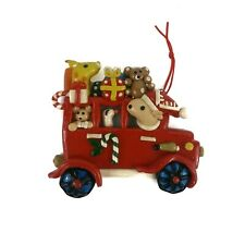 Giraffe Mouse Reindeer Goose Christmas Ornament Molded Plastic Car Presents
