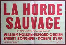 Poster Bandeau The Horde Wild Wild Bunch Sam Peckinpah William Holden
