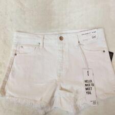 Celebrity Pink Womens Jean Shorts White Pockets Frayed Hem Juniors 5/27 New