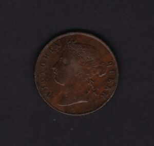 1884 Mauritius 5 Cent Coin