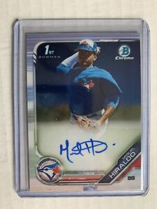 Miguel Hiraldo 2019 Bowman Chrome Prospects RC Rookie  #CPA-MH Auto | Blue Jays