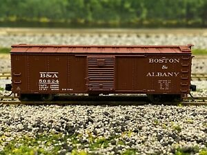 N Scale - BLI 3662 Boston & Albany Steel Boxcar (Pre-1955) B&A 50624 N4591