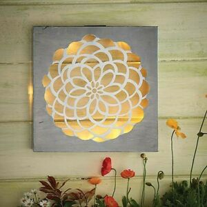 Cole & Bright Meadow Collection Solar Powered Wall Art • NEW WITH DEFECTS
