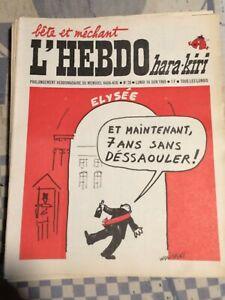 "1969/1970 ""L'Hebdo Hara Kiri Hebdo"" n° 20 du 16/06/69 et 40 Numéros disponibles"