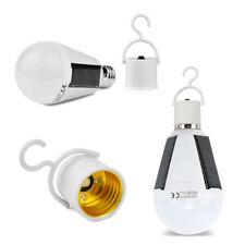 Lampe Led Solaire Ampoule E27 Lampe Extérieure Camping 12W Éclairage Luminaire