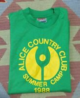 Vintage 80s Alice Country Club Summer Camp T Shirt 1988 National Size Small S