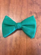 Bow Tie Vintage style 70`s Extra Large Bowtie Oversized Clip on Green