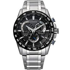 Citizen Men's PCAT Eco-drive Chronograph Watch in Super Titanium Silver Cb5908