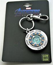 Marvel Comics Iron Man Arc Reactor Heart Glow IDark Collectors Key Chain New MOC