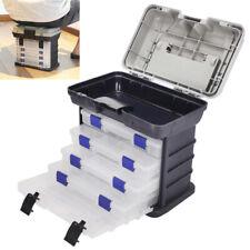 Fishing Tackle Box Lures Storage Tray Bait Case Tool Organizer Bulk 5 Drawer