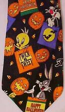 Halloween Necktie Looney Toons Mania New with Tags Bugs Bunny Taz Pumpkins
