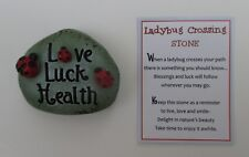 bb Love luck health Ladybug Crossing Stone Figurine ganz