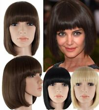 FULL HEAD WOMEN'S WIG WITH FRINGE CLASSIC SHORT BOB STYLE SYNTHETIC HAIR 6367