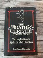 The Agatha Christie Companion by Dennis Sanders & Len Lovallo First Printing