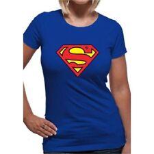 T-shirt, maglie e camicie da donna a manica corta blu DC