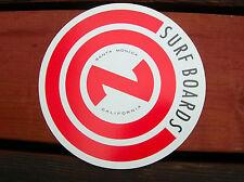 rare vintage 1960s con surfing surfboard paper lam sticker longboard california
