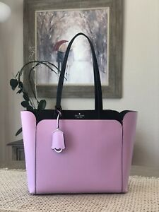 NWT Kate Spade Magnolia Street Lavender Medium Double Pocket Tote Retail $ 399