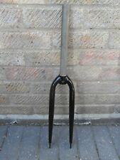 """Black Steel 700c Road Bike Forks Side Pull Brakes 1 1/8""""/260mm NOS"""