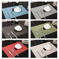 4 x Küche Tischset Platzdeckchen Platzset abwaschbar Kunststoff PVC (45x30 cm)