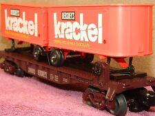 Lionel 6-26693 Krackel Flatcar With Piggyback Trailers