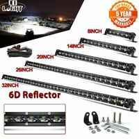 "6D 8"" 14"" 20"" 26"" 32"" 38"" 44"" 50"" Barre LED Rampe Light bar phare de travail SUV"