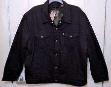 Levi's Men's Sherpa Fleece Denim Trucker Jacket 3XL - NEW with tags - Black