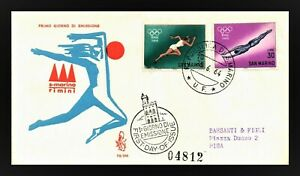 OLYMPICS 1964 TOKYO -  SAN MARINO Cover 1964 - pictorial cancel