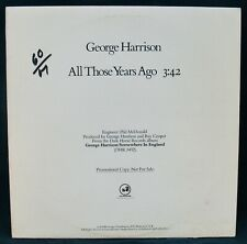 GEORGE HARRISON~All Those Years Ago~Rare Promo Album~DARK HORSE #PRO-A-949