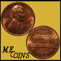 1963-D Lincoln Memorial Cent Penny , GEM BU Red , US Coin , Free Shipping!