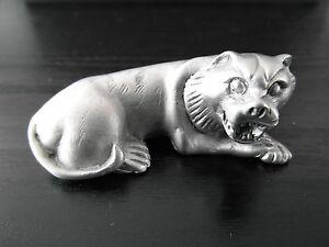 Pewter Tiger Animal Figure Horoscope Zodiac Feng Shui Birth Year Good Luck Charm