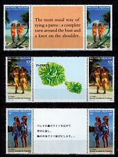 Timbre N° 365A  à 367A de Polynésie  neufs **