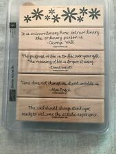 Stampin Up Quotes To Live By Set Of 5 Wood Mounted Rubber Stamp Su Scrapbooking